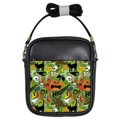 Halloween Pattern Girls Sling Bags by AnjaniArt