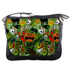 Halloween Pattern Messenger Bags