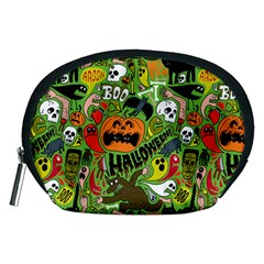 Halloween Pattern Accessory Pouches (medium)  by AnjaniArt
