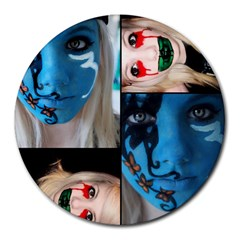 Holliwood Face Painting Round Mousepads