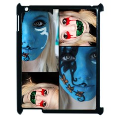 Holliwood Face Painting Apple Ipad 2 Case (black) by AnjaniArt