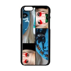 Holliwood Face Painting Apple Iphone 6/6s Black Enamel Case by AnjaniArt