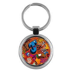 J Pattern Cartoons Key Chains (round)