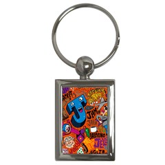 J Pattern Cartoons Key Chains (rectangle)  by AnjaniArt