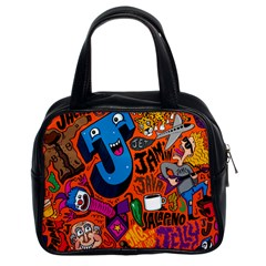 J Pattern Cartoons Classic Handbags (2 Sides) by AnjaniArt
