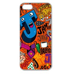 J Pattern Cartoons Apple Seamless Iphone 5 Case (clear)