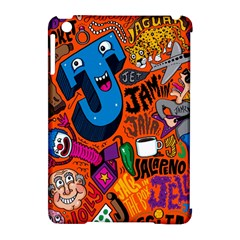 J Pattern Cartoons Apple Ipad Mini Hardshell Case (compatible With Smart Cover)