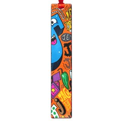 J Pattern Cartoons Large Book Marks by AnjaniArt