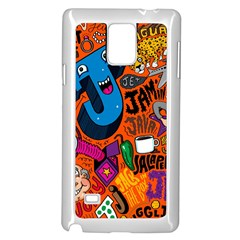J Pattern Cartoons Samsung Galaxy Note 4 Case (white)