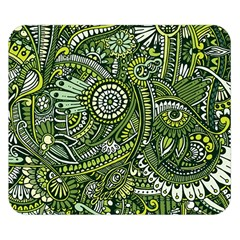 Green Boho Flower Pattern Zz0105 Double Sided Flano Blanket (small) by Zandiepants