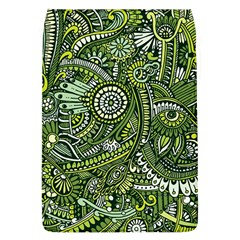 Green Boho Flower Pattern Zz0105 Removable Flap Cover (l) by Zandiepants
