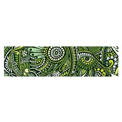Green Boho Flower Pattern Zz0105 Satin Scarf (oblong) by Zandiepants