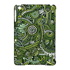 Green Boho Flower Pattern Zz0105 Apple Ipad Mini Hardshell Case (compatible With Smart Cover) by Zandiepants