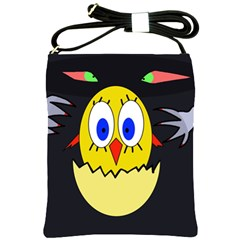 Chicken Shoulder Sling Bags by Valentinaart