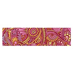 Pink Yellow Hippie Flower Pattern Zz0106 Satin Scarf (oblong) by Zandiepants