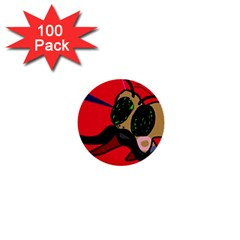Mr Fly 1  Mini Buttons (100 Pack)  by Valentinaart