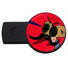 Mr Fly Usb Flash Drive Round (4 Gb)  by Valentinaart
