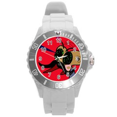 Mr Fly Round Plastic Sport Watch (l) by Valentinaart