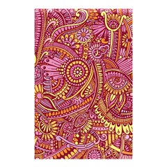 Pink Yellow Hippie Flower Pattern Zz0106 Shower Curtain 48  X 72  (small) by Zandiepants
