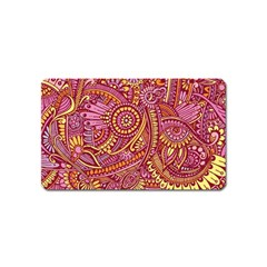 Pink Yellow Hippie Flower Pattern Zz0106 Magnet (name Card) by Zandiepants