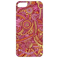 Pink Yellow Hippie Flower Pattern Zz0106 Apple Iphone 5 Classic Hardshell Case by Zandiepants