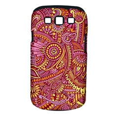 Pink Yellow Hippie Flower Pattern Zz0106 Samsung Galaxy S Iii Classic Hardshell Case (pc+silicone) by Zandiepants