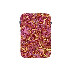 Pink Yellow Hippie Flower Pattern Zz0106 Apple Ipad Mini Protective Soft Case by Zandiepants