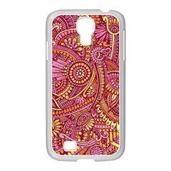 Pink Yellow Hippie Flower Pattern Zz0106 Samsung Galaxy S4 I9500/ I9505 Case (white) by Zandiepants