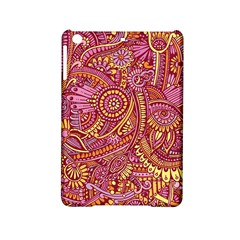 Pink Yellow Hippie Flower Pattern Zz0106 Apple Ipad Mini 2 Hardshell Case by Zandiepants