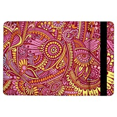 Pink Yellow Hippie Flower Pattern Zz0106 Apple Ipad Air Flip Case by Zandiepants