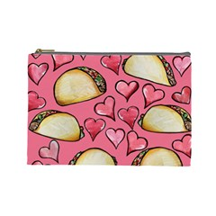 Taco Tuesday Lover Tacos Cosmetic Bag (large)  by BubbSnugg