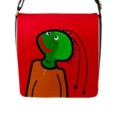Looking Up Flap Messenger Bag (l)  by Valentinaart