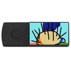 Hedgehog Usb Flash Drive Rectangular (4 Gb)  by Valentinaart
