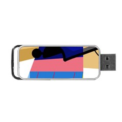 Jumping Portable Usb Flash (one Side) by Valentinaart
