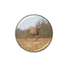 Red Deer Stag On A Hill Hat Clip Ball Marker (10 Pack)