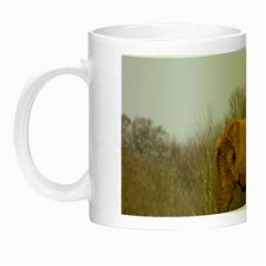 Red Deer Stag On A Hill Night Luminous Mugs by GiftsbyNature