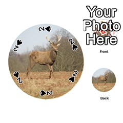 Red Deer Stag On A Hill Playing Cards 54 (round)  by GiftsbyNature