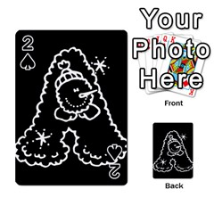 Funny Snowball Doodle Black White Playing Cards 54 Designs  by yoursparklingshop