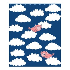 When Pigs Fly Shower Curtain 60  X 72  (medium)  by BubbSnugg
