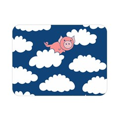 When Pigs Fly Double Sided Flano Blanket (mini)  by BubbSnugg
