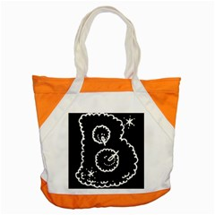 Funny Black And White Doodle Snowballs Accent Tote Bag by yoursparklingshop