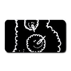 Funny Black And White Doodle Snowballs Medium Bar Mats by yoursparklingshop