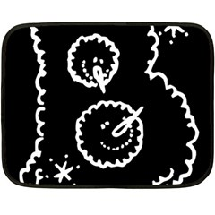 Funny Black And White Doodle Snowballs Fleece Blanket (mini) by yoursparklingshop