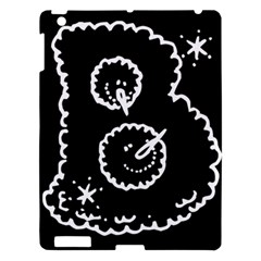 Funny Black And White Doodle Snowballs Apple Ipad 3/4 Hardshell Case by yoursparklingshop