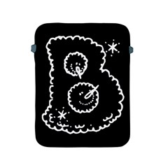 Funny Black And White Doodle Snowballs Apple Ipad 2/3/4 Protective Soft Cases by yoursparklingshop