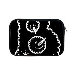 Funny Black And White Doodle Snowballs Apple Ipad Mini Zipper Cases by yoursparklingshop