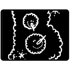Funny Black And White Doodle Snowballs Double Sided Fleece Blanket (large)  by yoursparklingshop