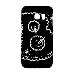 Funny Black And White Doodle Snowballs Galaxy S6 Edge by yoursparklingshop