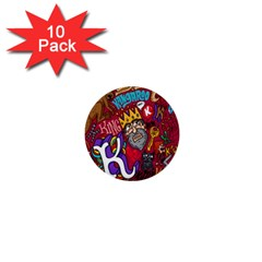 K Pattern Cartoons 1  Mini Buttons (10 Pack)