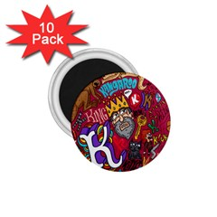 K Pattern Cartoons 1 75  Magnets (10 Pack)  by AnjaniArt